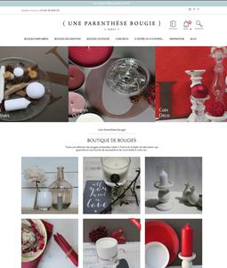 Boutique en ligne de bougies - Parenthese Bougie