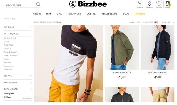 Filtre stock bizbee